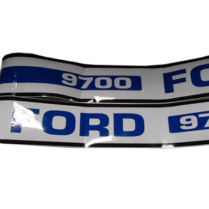 Vinyl Hood Decal Kit Fits Ford Tractor 9700