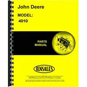 New John Deere 4010 Tractor Parts Manual gas Lp Diesel Includes Both Volumes
