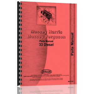 New Massey Harris 33 Tractor Parts Manual mh p 33d