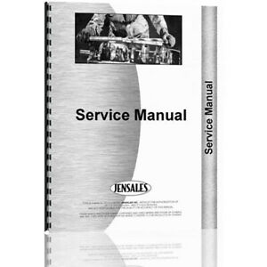 New Massey Harris 555 Tractor Service Manual w Pump