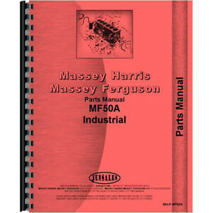 New Massey Ferguson 50a Tractor Parts Manual