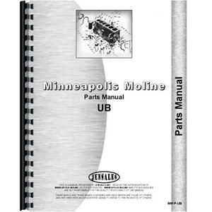 New Parts Manual Made For Minneapolis Moline Tractor Model Ubu
