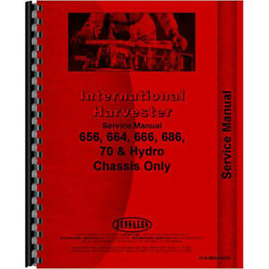 New International Harvester 656 Tractor Chassis Only Service Manual