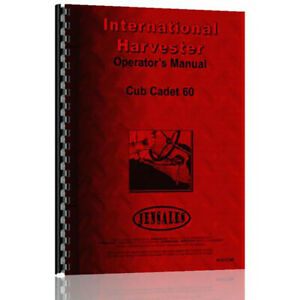 New Tractor Operator Manual For International Harvester Cub Cadet 60 Tractor