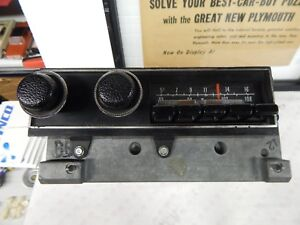 Mopar 1971 74 Cuda Challenger Am Fm Radio With Cassette Pig Tail