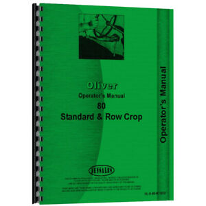 New Oliver 80 Tractor Operator Manual ol o 80 Rc std