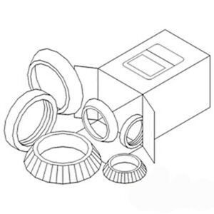 Fw119fs Wheel Bearing Kit Made For Case ih Tractor Models 460 504 544 606