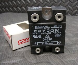 Crydom Solid State Relay D4890 3 32 V Dc Input 280 480 Volt Ac Output 90 Amp