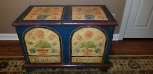 1828 Pennsylvania German Paint Decorated Amish Blanket Chest Rattes