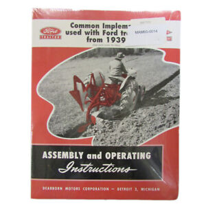 39ftim Common Implements Used With Ford Tractors 1939 1953 Assembly Instructions