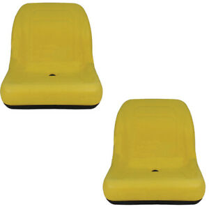 2 Two Yellow Seats For John Deere Gator 4x2 4x4 4x6 Diesel Trail Worksite Turf