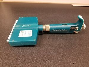 Beta 12 Multi channel Pipette 12 channels 50 300ul Continental Lab Products