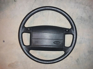 1987 1993 Ford Mustang 5 0l Steering Wheel Non Cruise Black 302 Gt40 Cobra