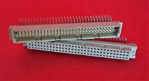 Panduit 96 Pos Male Female Pcb Connector 3 Rows Din Right Angle Solder 2 Pairs