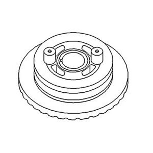 Ar58172 Crankshaft Dampener Pulley For John Deere Tractor 4000 4010 4020