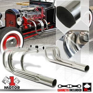 Ss Exhaust Header Manifold For Chevy Small Block Sbc T bucket Roadster Hood less