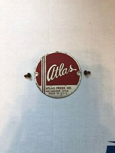 Very Nice Badge For Atlas Lathe Mill Drill Press Etc With Screws