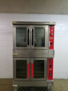 Vulcan Vc4gd 10 Natural Gas Double Stack Convection Oven Tested 115v