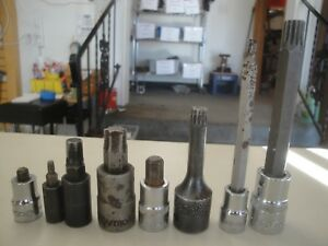 Lot Of Mac Tools And Matco Triple Square Driver Torx And Allen Sockets 2b