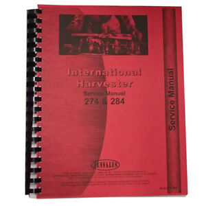 New International Harvester 284 Tractor Service Manual