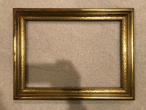 Antique 17x12 Gold Leaf Gilt Picture Frame C 1940s Arts Crafts Style 19b