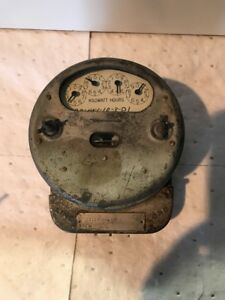 Vintage General Electric Single Phase Watt Hour Meter Glass Butterfly Steampunk