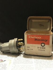 Delco Remy Ignition Switch 1955 1956 1957 Chevy Corvette Nos Gm 1116512 D1404