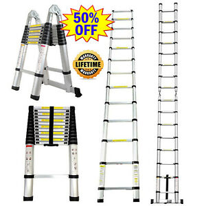 Multi purpose Collapsible Ladders Aluminium Telescopic Ladder Extension Foldable