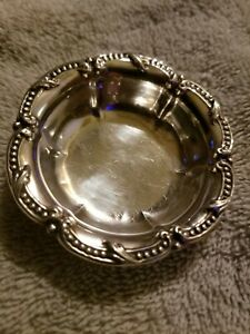 Antique Vintage Sterling Silver Jewelry Trinket Dish Holder Bowl Rare