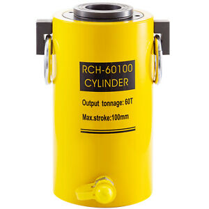 Hydraulic Cylinder Jack 60t 4 Stroke Single Acting Hollow Ram Good Sealing