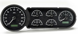 1953 1954 Chevy Gauge Kit Dakota Digital Vhx 53c Black White Instument Cluster