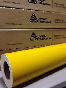 24in X 150ft 2ft X 50yd Avery Hp700 Mustard Cut Vinyl Roll