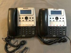 Two 2 Cortelco 2740 4 line Corded Phone With Power Adapters