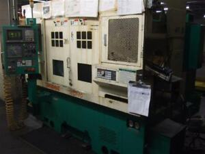 1997 Takamaz Twin Spindle Cnc Lathe With Fanuc 16t Control