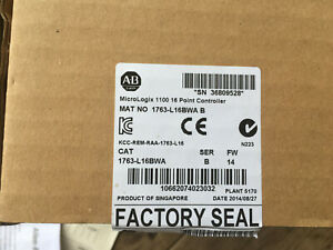 New Old Stock Allen Bradley Micrologix 1100 16 Point Controller 1763 l16bwa B
