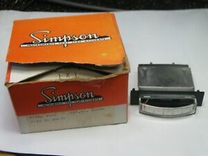 Vintage Nos Simpson M1622 0 150 Vdc Volts Dc Edgewise Edge view Panel Meter