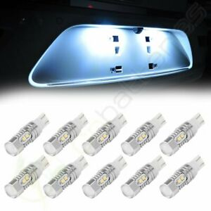10pcs 10w 6000k White 921 T10 T15 Backup Reverse Led Lights Projector Lens Bulb