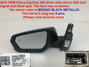 2018 Chevy Equinox Left Side Mirror With Turn Signal Blind Spot 84603869 250