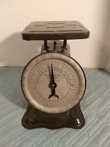 Vintage 1900 S National Family Kitchen Scale 24 Lb