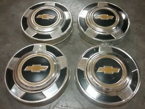 Vintage Chevrolet Chevy C10 Pick Up Truck Dog Dish Poverty Hubcaps Wheel Covers