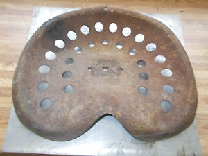 Steel Farm Implement Seat Tractor Early 1900 s Original 15 X 17 27 Hole