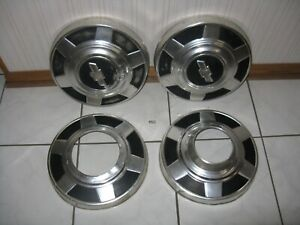 1977 87 Chevy Gmc Truck 12 Dog Dish Hubcaps 4x4 K20 K30 Used