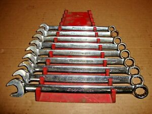 Snap on Tools Soexm 9pc Metric Flank Drive Plus Combination Wrench Set 11 19mm