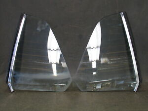 1969 1970 Mercury Cougar Quarter Window Glass With Rubber And Front Trim Pair