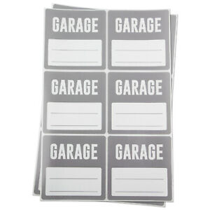 Garage W Blank For Memo Note Home Moving Box Labels Stickers 3 X 3 5pk