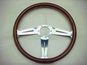 Nardi Classic Wood Steering Wheel 367mm Polished Side Spokes