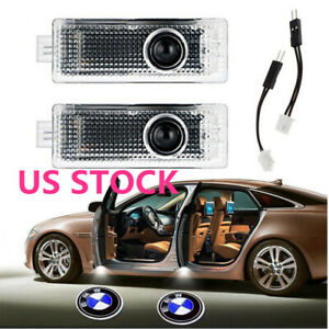 Car Door Led Laser Logo Projector Shadow Lights Ground Lamp Forbmw 3 5 6 7 X 2pc