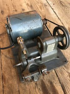 Vintage Briggs Stratton 1930 s Automotive Key Cutting Machine Ge Elec Motor