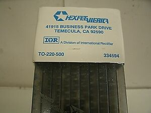 Factory Sealed Box Of 500 International Rectifier Irf640s Hexfet Power Mosfet