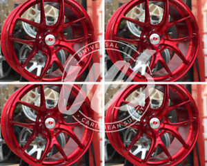 New 19 X 8 5 Red Style Wheels Rims 5x114 3 Set 4